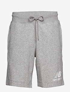 ESSENTIALS STACKED LOGO SHORT - ATHLETIC GRE