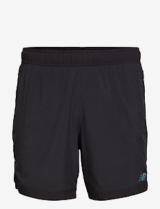 Q SPEED RUN CREW SHORT - BLACK