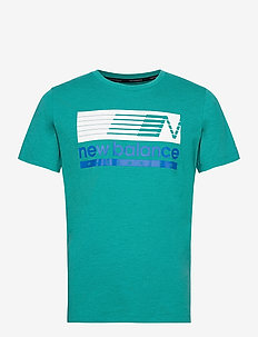 GRAPHIC HEATHERTECH T - t-shirts - team teal