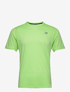 IMPACT RUN SS - topy sportowe - energy lime heather