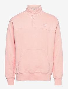 NB ATHLETICS PREP HALF ZIP FLEECE - basic sweatshirts - peach soda