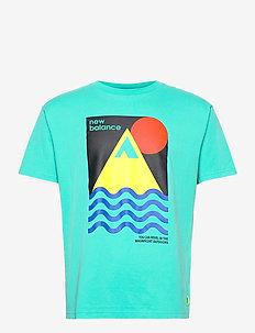 Athletics Trail Revel T-Shirt - urheilutopit - tidepool