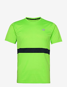 Striped Accelerate Short Sleeve - urheilutopit - energy lime