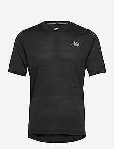 Q SPEED FUEL JACQUARD SS - topy sportowe - black heather