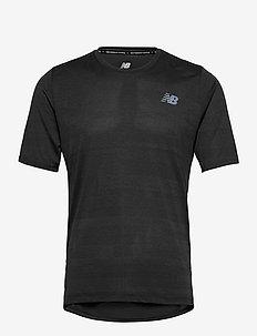 Q SPEED FUEL JACQUARD SS - t-shirts - black heather