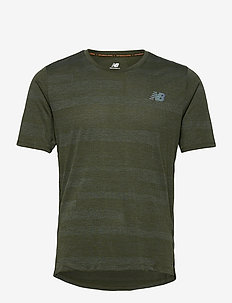 Q SPEED FUEL JACQUARD SS - sportoberteile - oak green heather