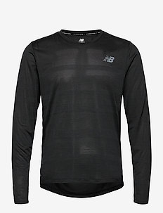 Q SPEED FUEL JACQUARD LS - langarmshirts - black heather
