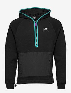 NB ATHLETICS TERRAIN HOODIE - sweatshirts - black