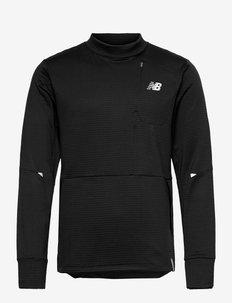 Impact Run Grid Back Crew - långärmade tröjor - black