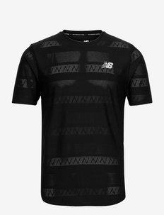 Q Speed Jacquard Short Sleeve - t-shirts - black