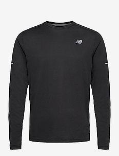 CORE RUN LS T SOLID - langarmshirts - black