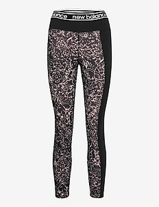 Relentless Printed High Rise 7/8 Leggings - juoksu- & treenitrikoot - saturn pink