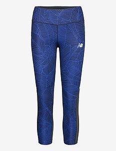 PRINTED IMPACT CAPRI - løpe- og treningstights - ballad blue