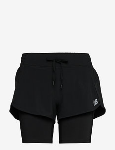 IMPACT RUN 2IN1 SHORT - trainings-shorts - black