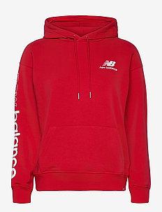 ESSENTIALS ICON PULLOVER - hoodies - team red