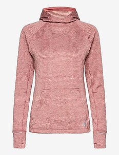 NB HEAT GRID HOODIE - pulls à capuche - off red heather