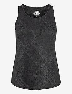Q SPEED FUEL JACQUARD TANK - tank tops - black heather