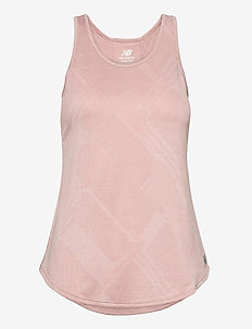 Q SPEED FUEL JACQUARD TANK - tank tops - saturn pink heather