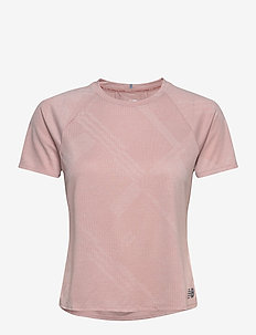 Q SPEED FUEL JACQUARD SS - t-shirts - saturn pink heather