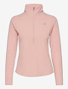 Sport Spacedye Half Zip - bluzy i swetry - oyster pink heather