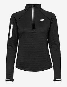 NB Heat Grid Half Zip - bluzy i swetry - black