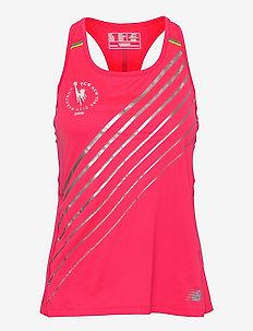 NYC Marathon Printed NB Ice 2.0 Tank - tank tops - pink zing