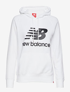 ESSENTIALS PULLOVER HOODIE - WHITE BLACK