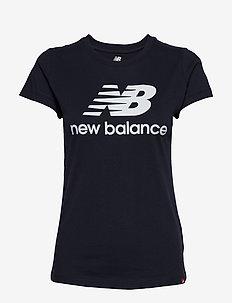 ESSENTIALS STACKED LOGO TEE - logo t-shirts - eclipse