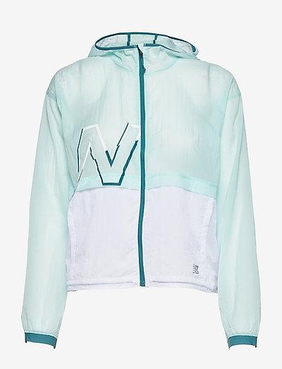 Printed Impact Run Light Pack Jacket - training jackets - pale blue chill