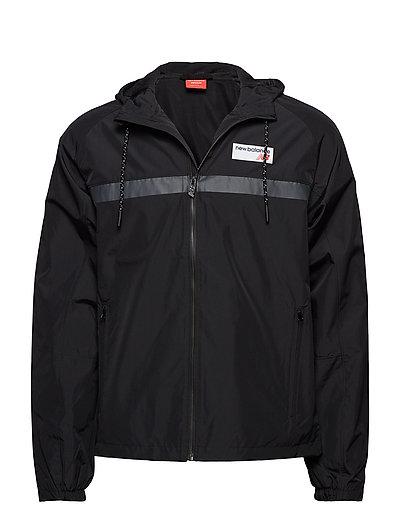Nb Athletics 78 Jacket Outerwear Sport Jackets Light Jackets Schwarz NEW BALANCE