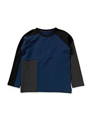 Panel Sweatshirt - Black/Plum