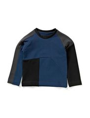 Panel Baby Sweatshirt - Blue/Grey/Black