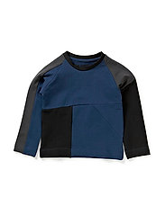Panel Baby Sweatshirt - Blue/Grey/Black