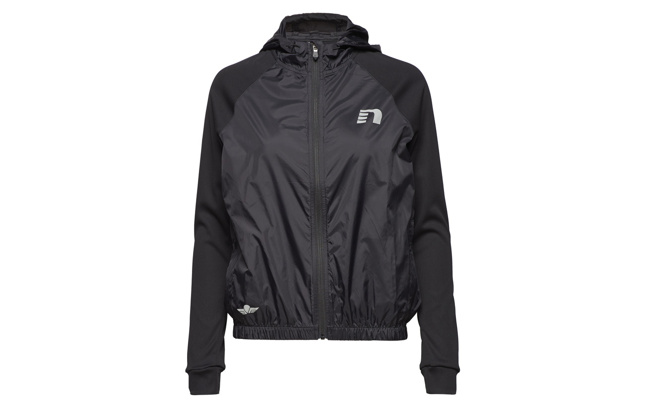 100 Polyamide Équipement Hooded Track Jacket Black Newline qXUwff