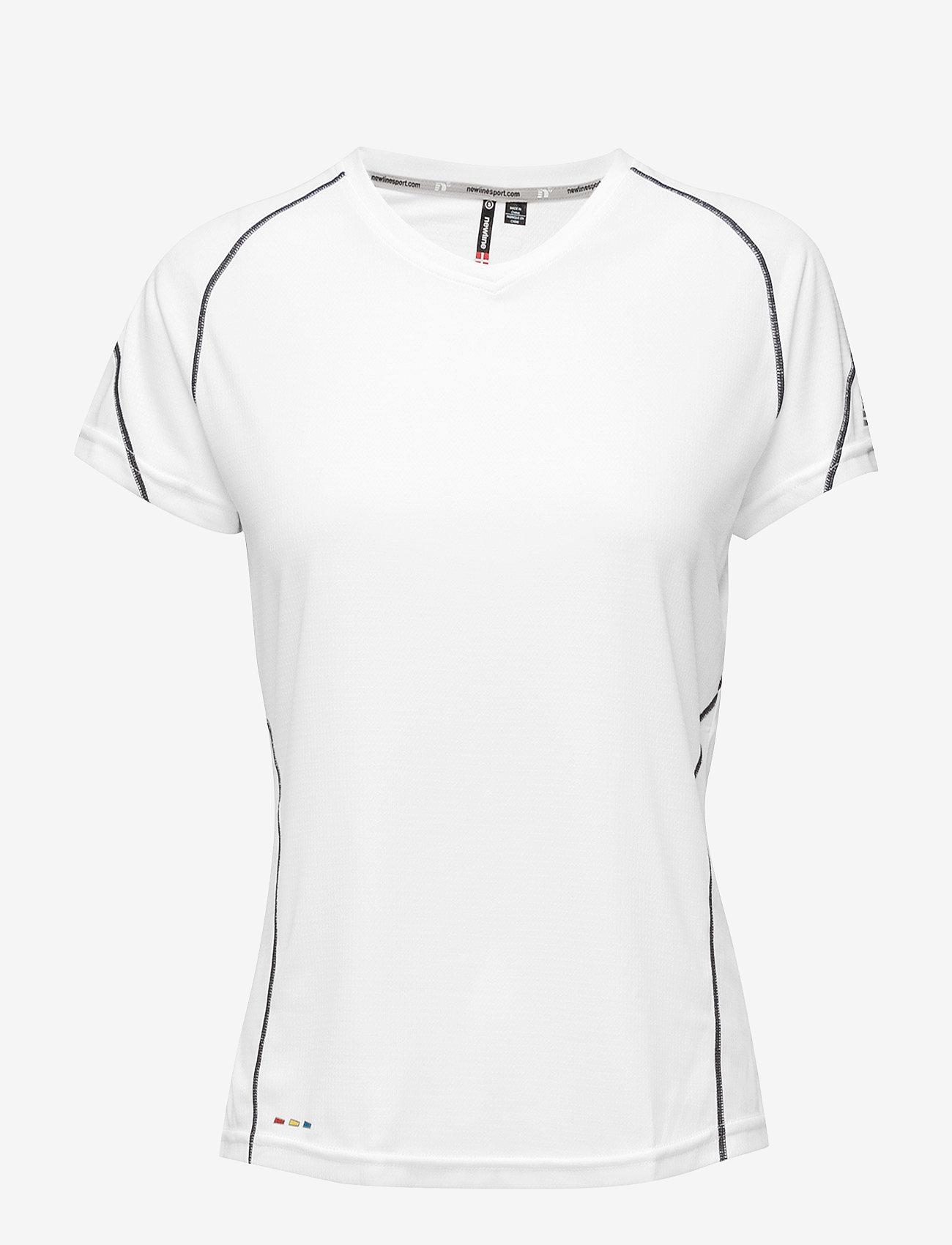 Newline - Base Coolskin Tee - logo t-shirts - white - 0