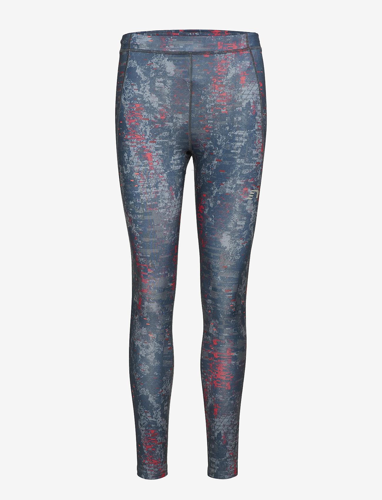 Newline - Black Printed Warm Tights - running & training tights - printed - 0