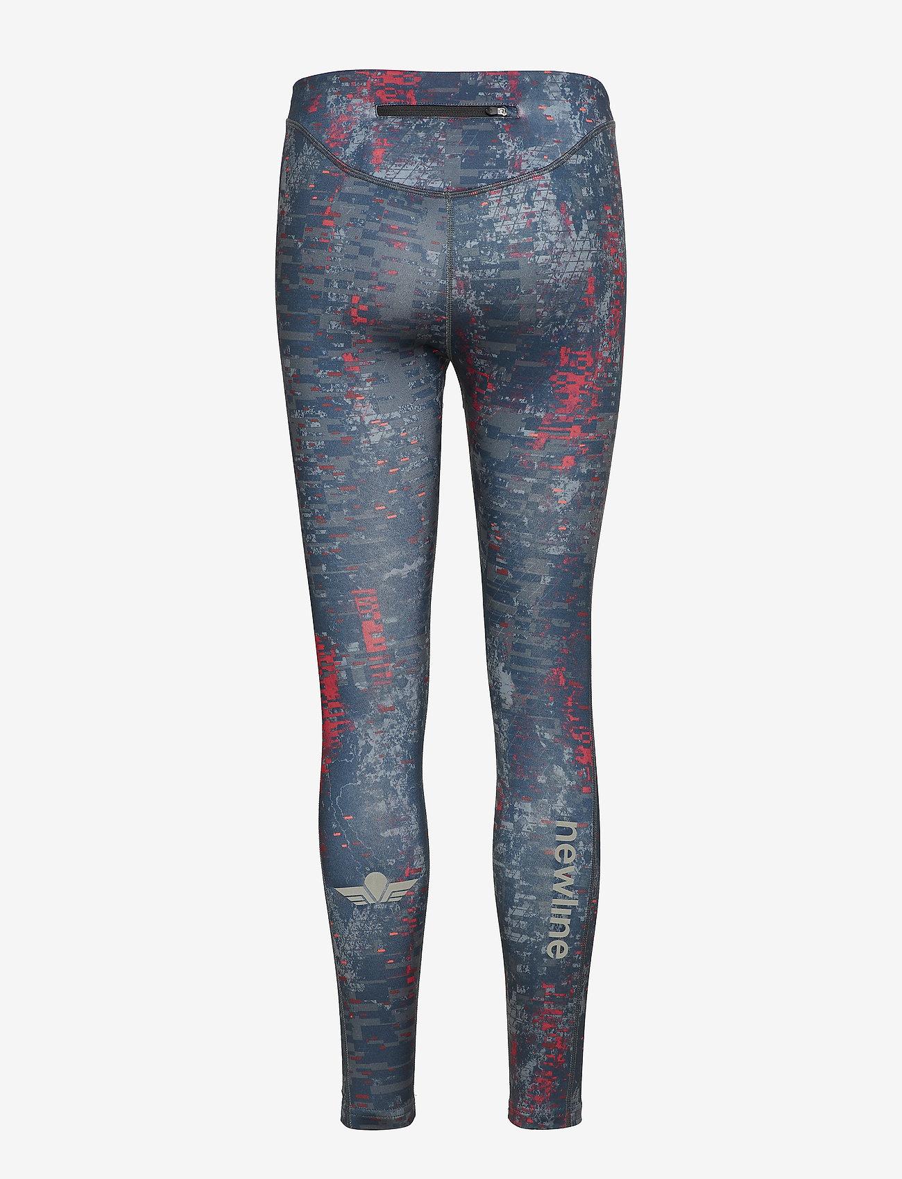 Newline - Black Printed Warm Tights - running & training tights - printed - 1