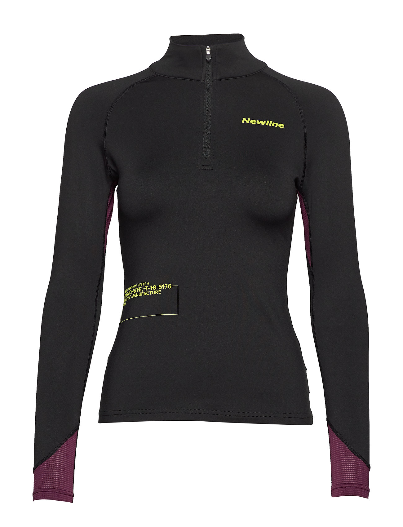 Newline Thermal Power Shirt - BLACK/BERRY