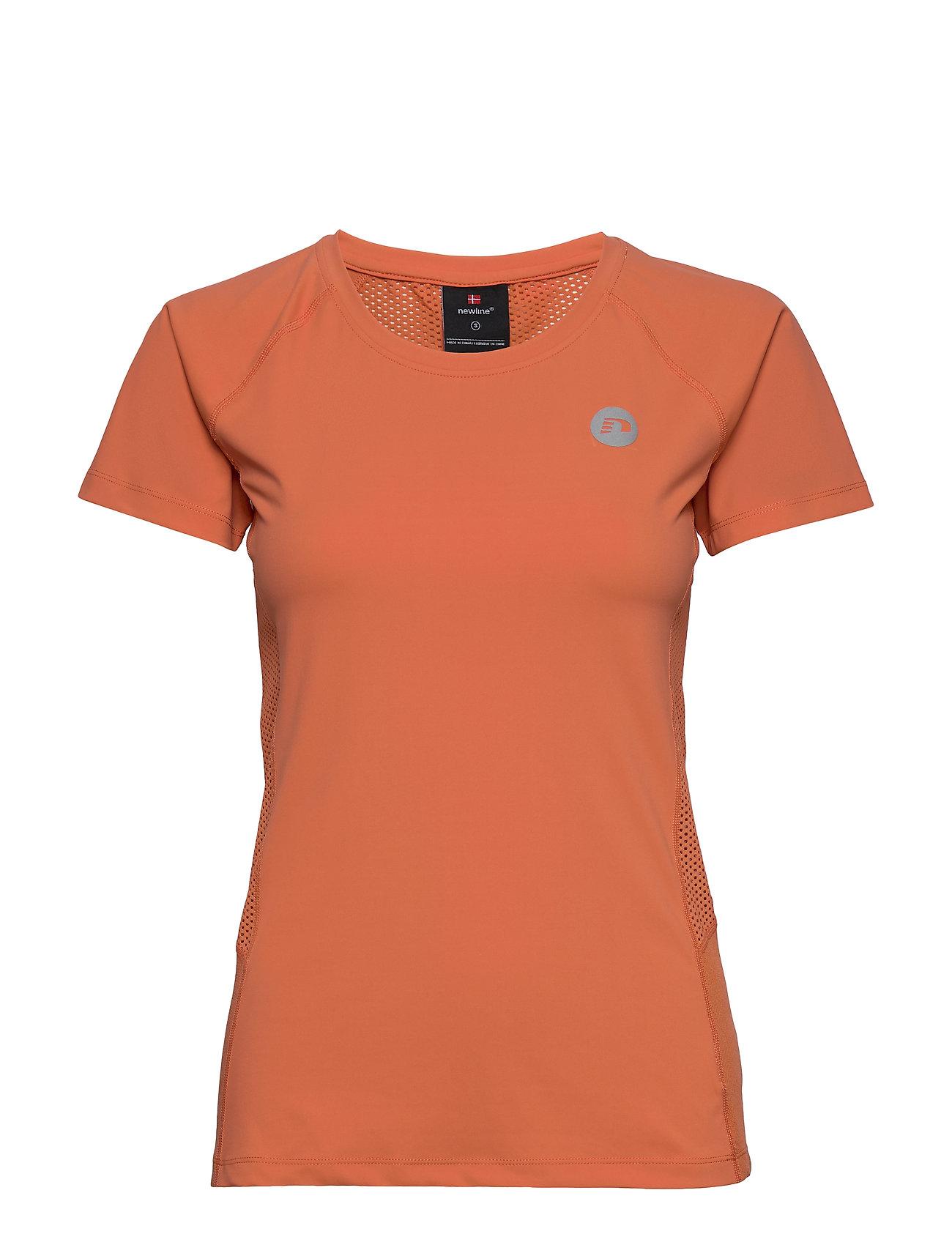 Image of Women'S Running Tee T-shirt Top Orange Newline (3364040497)
