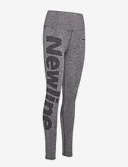 Newline - Jaquard Tights - running & training tights - heather grey - 2