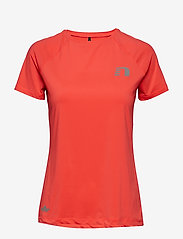Newline - Black Dry Tee - logo t-shirts - electric coral - 0