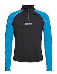 Warm Zip Shirt - BLACK/COLD BLUE