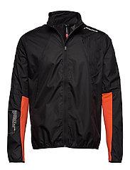 Wind Jacket - BLACK/REAL ORANGE