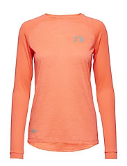 Black Light Thermal Shirt - ELECTRIC CORAL