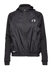 Black Hooded Track Jacket - BLACK