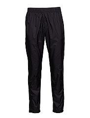 Black Track Cross Pants - BLACK
