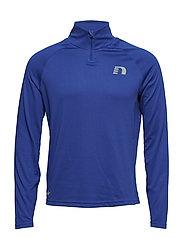 Black Warm Zip Shirt - ELECTRIC BLUE