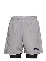 Black 2-Lay Shorts - WET GREY