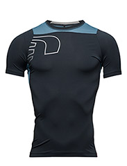 Iconic Vent Stretch Tee - DARK SHALE/ SKY BLUE/CLOUDY