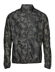 BLACK CAMO WINDSHIELD Jacket - GREEN CAMEL AOP